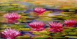 Lotus Pond painting for sale