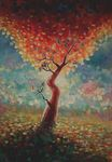 Fall into Happiness painting for sale