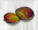 Mango on White painting for sale