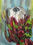 Red Flower painting for sale