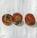 Persimmons on White-2 painting for sale