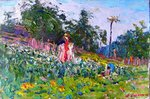 Scarecrow in the Garden painting for sale