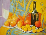 Still life with Apples and Oranges painting for sale