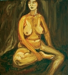 Seated Nude painting for sale