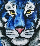 Blue Tiger painting for sale