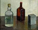 Still Life with Two Bottles painting for sale