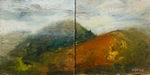 Landscape Diptych painting for sale