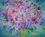 Happy Flower Bouquet painting for sale
