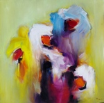 Abstract Floral painting for sale