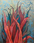 Red Algae painting for sale