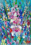 Gladioli painting for sale