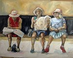 Three old Hats painting for sale