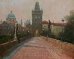 Beautiful morning in Prague painting for sale