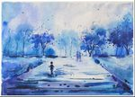 Rainly Season Blues 02 painting for sale