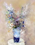 Blue Vase painting for sale