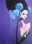 Violet painting for sale