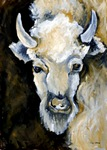 White Bison painting for sale