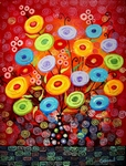Beauty of Dream Poppies-II painting for sale