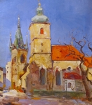 Sunny day in Prague painting for sale