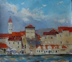 Town near the Sea painting for sale