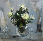 White Roses painting for sale