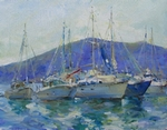 Yachts 01 painting for sale