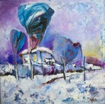 Blue Winter painting for sale