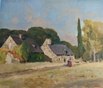 Village Landscape painting for sale