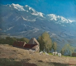 Morning Alps painting for sale