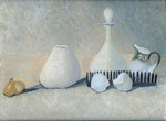 White Still Life painting for sale