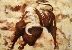 Bull Fight painting for sale