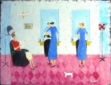 Hairdress Saloon Painting