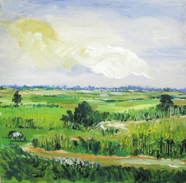 Noida Villages off Expressway Painting