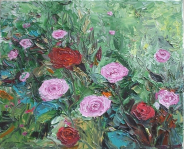 Pink & Red Roses Painting