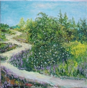 Rose Bushes & Path Painting