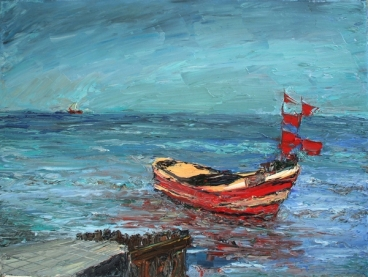 Boats, Sopot (Poland) Painting