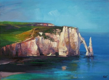Seaside Landscape (Etretat) Painting