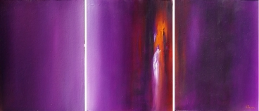Violet Light (3 Pieces) Painting