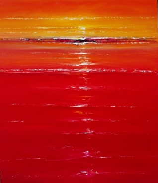 Red On The Sea 03 Painting