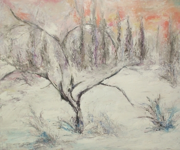 Tree, Winter Painting