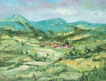 Pineny Mountains Painting