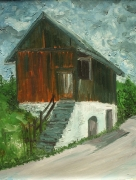 Old Barn In Pieniny Mountains Painting