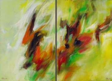 Diptych in Room 1
