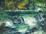 A Stream In Pineny Mountains 05 Painting