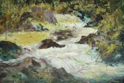 A Stream In Pineny Mountains 02 Painting