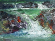 A Stream In Pineny Mountains 03 Painting