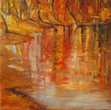 Reflection Autumn Painting