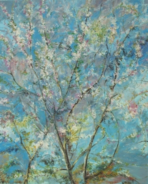 Cherry Flowers Painting
