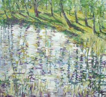 Little Pond, Next To River Warta Painting