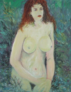 Nude In The Garden Painting